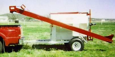 Deer and Game Feeder Filler in the travel position